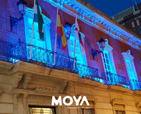 iluminación-de-la-fachada-de-la-Diputación-Provincial-de-Almería