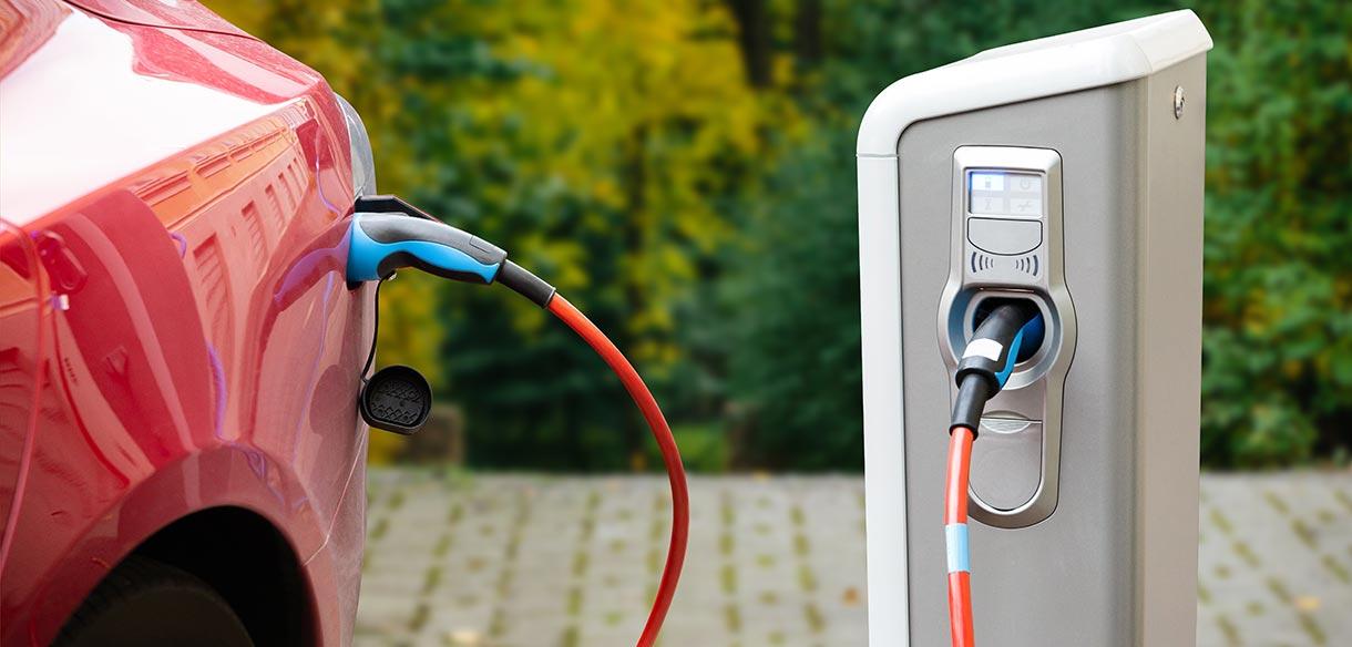 punto de recarga de vehículo eléctrico